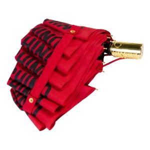 Зонт складной Moschino 8730-OCС Couture Gold Red фото-4