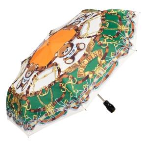 Зонт складной Moschino 8044-OCI Belts Bear Beige Multi фото-2