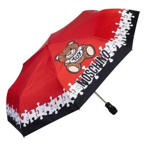 Зонт складной Moschino 8046-OCС Puzzle Bear Red фото-2