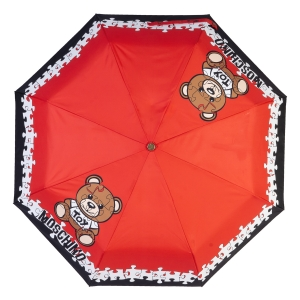 Зонт складной Moschino 8046-OCС Puzzle Bear Red фото-3