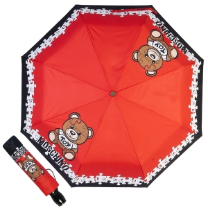 Зонт складной Moschino 8046-OCС Puzzle Bear Red фото-1
