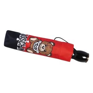 Зонт складной Moschino 8046-OCС Puzzle Bear Red фото-5