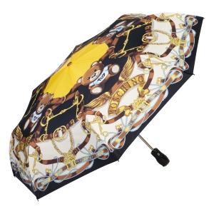 Зонт складной Moschino 8044-OCA Belts Bear Black Multi фото-2