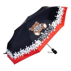 Зонт складной Moschino 8046-OCA Puzzle Bear Black фото-2