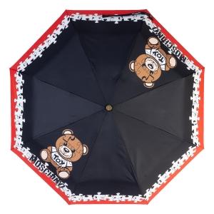 Зонт складной Moschino 8046-OCA Puzzle Bear Black фото-3
