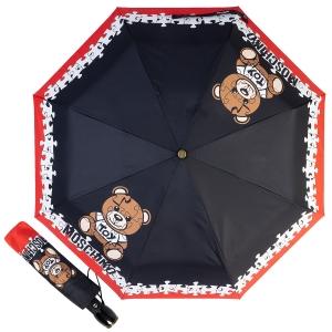 Зонт складной Moschino 8046-OCA Puzzle Bear Black фото-1
