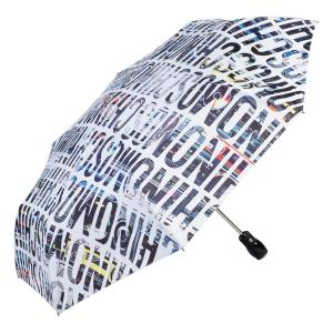 Зонт складной Moschino 8600-OCB Boombox White фото-2