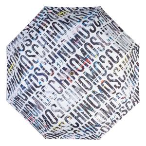 Зонт складной Moschino 8600-OCB Boombox White фото-3