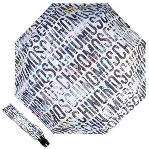Зонт складной Moschino 8600-OCB Boombox White фото-1