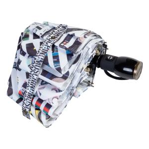 Зонт складной Moschino 8600-OCB Boombox White фото-4