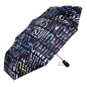 Зонт складной Moschino 8600-OCA Boombox Black фото-2