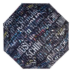Зонт складной Moschino 8600-OCA Boombox Black фото-3
