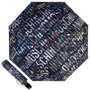 Зонт складной Moschino 8600-OCA Boombox Black фото-1