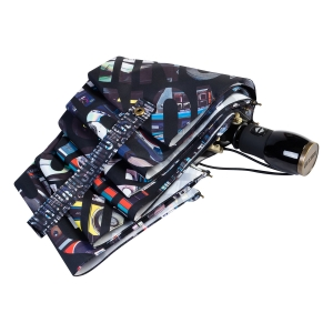 Зонт складной Moschino 8600-OCA Boombox Black фото-4