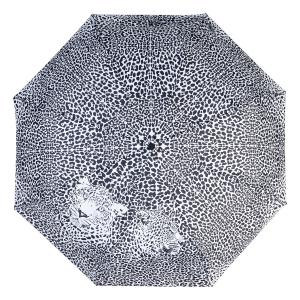 Зонт складной Baldinini 48-OC Leo Black/White фото-3