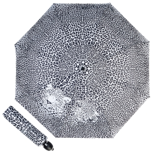 Зонт складной Baldinini 48-OC Leo Black/White фото-1