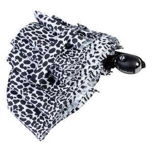 Зонт складной Baldinini 48-OC Leo Black/White фото-4