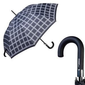 Зонт-трость Ferre 6037-LA Logo Black фото-1