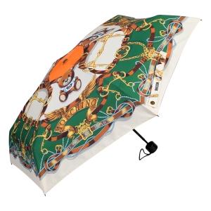 Зонт складной Moschino 8044-superminiI Belts Bear Beige Multi фото-2