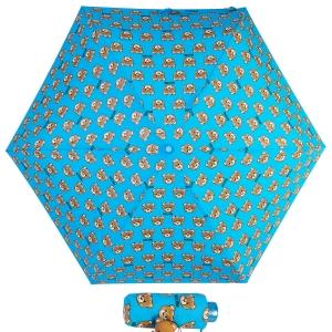 Зонт складной Moschino 8067-SuperminiP Brush Bear Allover Lightblue фото-1