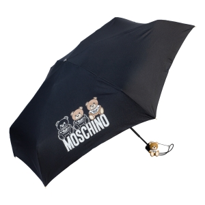 Зонт складной Moschino 8061-SuperminiA Bear Scribbles Black фото-2