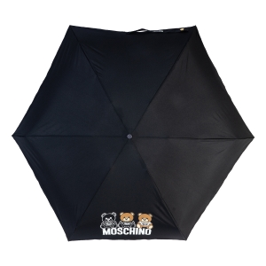 Зонт складной Moschino 8061-SuperminiA Bear Scribbles Black фото-3
