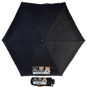 Зонт складной Moschino 8061-SuperminiA Bear Scribbles Black фото-1