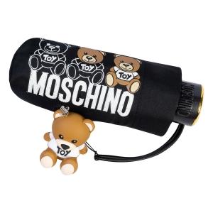 Зонт складной Moschino 8061-SuperminiA Bear Scribbles Black фото-4