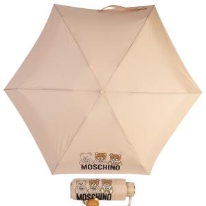 Зонт складной Moschino 8061-SuperminiA Bear Scribbles Beige фото-1