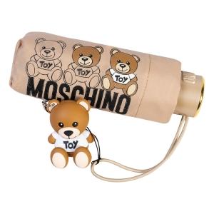 Зонт складной Moschino 8061-SuperminiA Bear Scribbles Beige фото-4