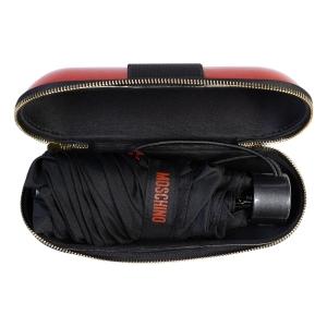 Зонт складной Moschino 8900-SuperminiH Glitter Red фото-5