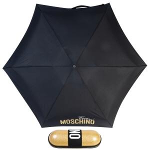 Зонт складной Moschino 8900-SuperminiH Glitter Gold фото-1