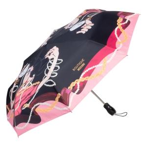 Зонт складной Moschino 7950-OCA Olivia Makeup Black фото-2
