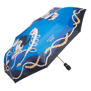 Зонт складной Moschino 7950-OCP Olivia Makeup Lightblue фото-2