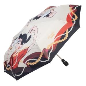 Зонт складной Moschino 7950-OCI Olivia Makeup Beige фото-2