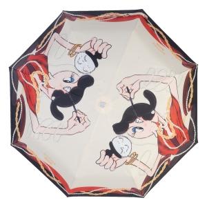 Зонт складной Moschino 7950-OCI Olivia Makeup Beige фото-3