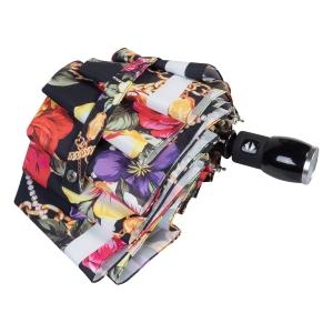 Зонт складной Moschino 7700-OCA Flowers and Chains Black фото-4