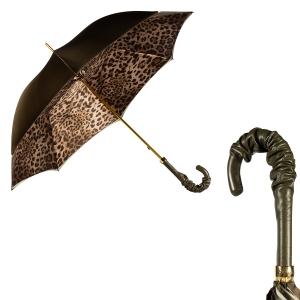 Зонт-трость Pasotti Oliva Leo Pelle фото-1