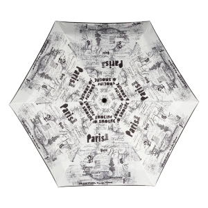 Зонт складной Jean Paul Gaultier 1313-OC Ecritues Blanc фото-2