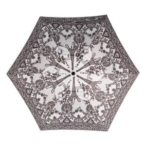 Зонт складной Jean Paul Gaultier 919-OC mini Tour Eiffel Noir/Blanc фото-3