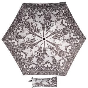 Зонт складной Jean Paul Gaultier 919-OC mini Tour Eiffel Noir/Blanc фото-1