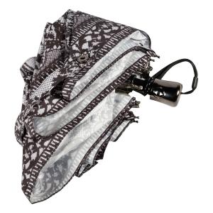 Зонт складной Jean Paul Gaultier 919-OC mini Tour Eiffel Noir/Blanc фото-4