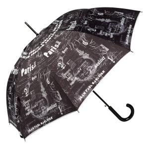 Зонт-трость Jean Paul Gaultier 1312-LA Ecritues Noir фото-3