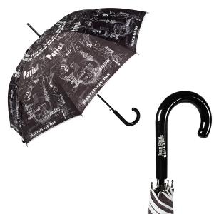 Зонт-трость Jean Paul Gaultier 1312-LA Ecritues Noir фото-1