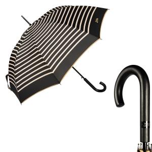Зонт-трость Jean Paul Gaultier 206-LA Stripes Noir/Crema фото-1