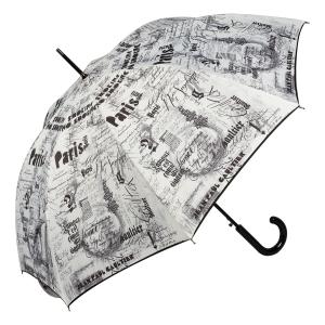 Зонт-трость Jean Paul Gaultier 1312-LA Ecritues Blanc фото-3