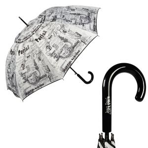 Зонт-трость Jean Paul Gaultier 1312-LA Ecritues Blanc фото-1