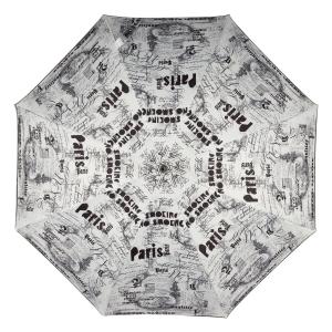 Зонт-трость Jean Paul Gaultier 1312-LA Ecritues Blanc фото-2