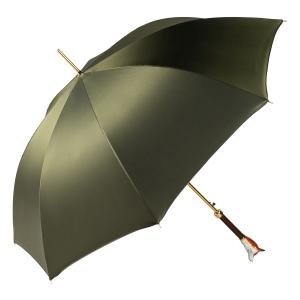 Зонт-трость Pasotti Volpe Oxford Oliva  Fodero Anello фото-4