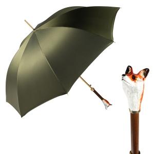 Зонт-трость Pasotti Volpe Oxford Oliva  Fodero Anello фото-1